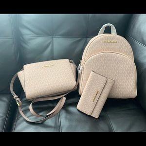 3 Pcs Bundle MK Backpack & Bag & Wallet
